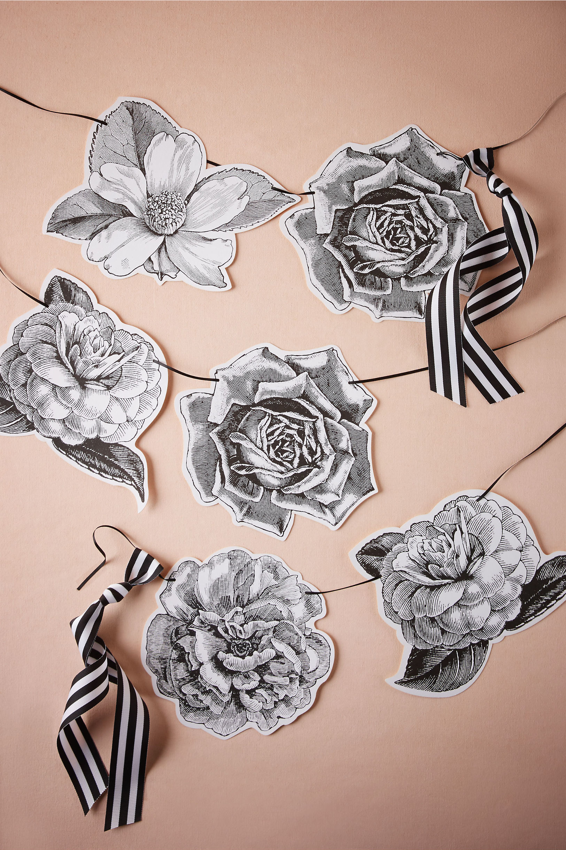 paper floral garland