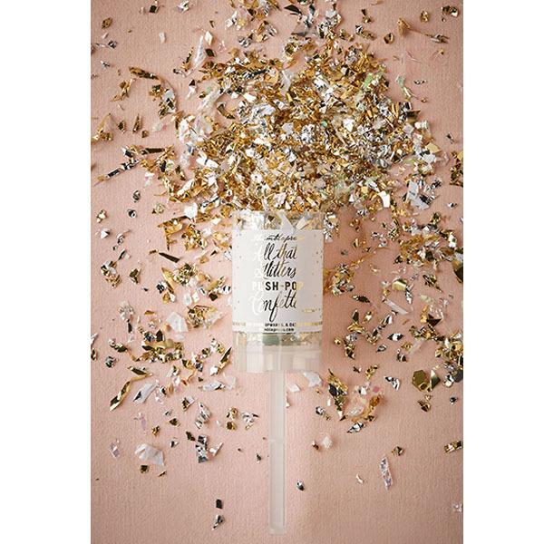 gold confetti popper