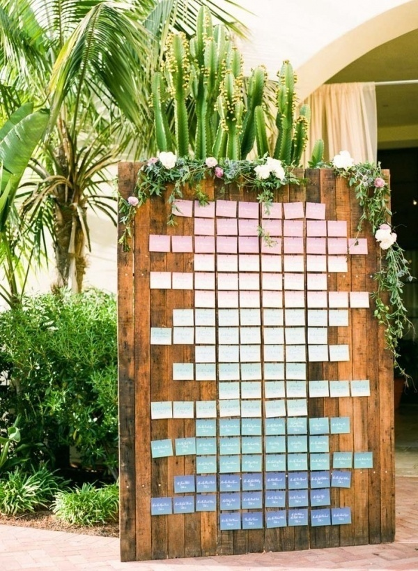 ombre seating chart