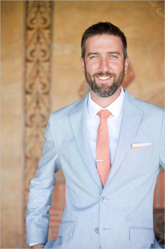 Summer wedding blue suit