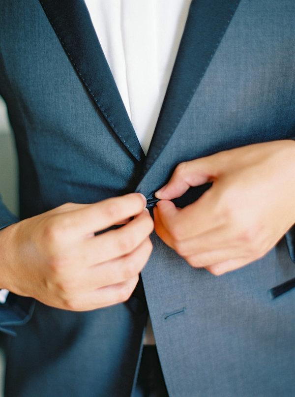 Dark blue gray suit