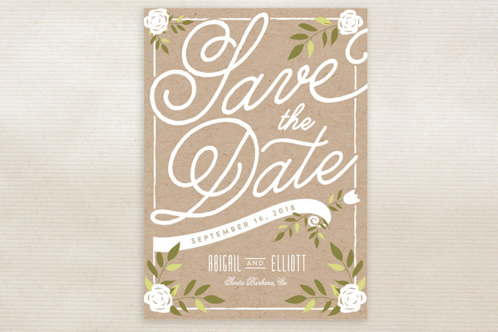 Simple Rustic Save the Date