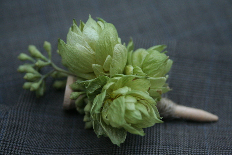 beer hops boutonniere