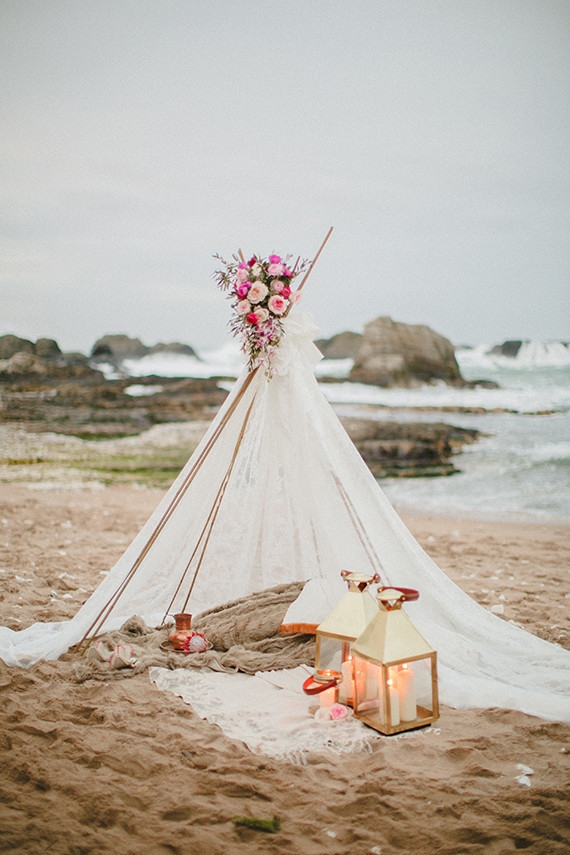boho tent for two