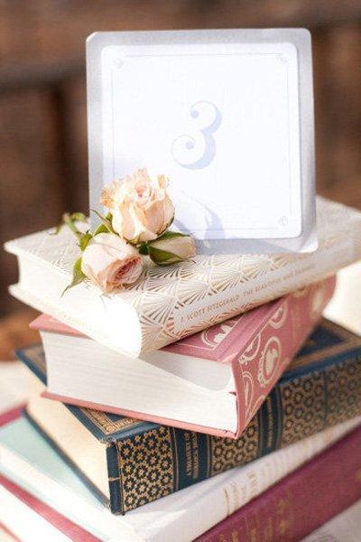 Nonfloral book centerpiece