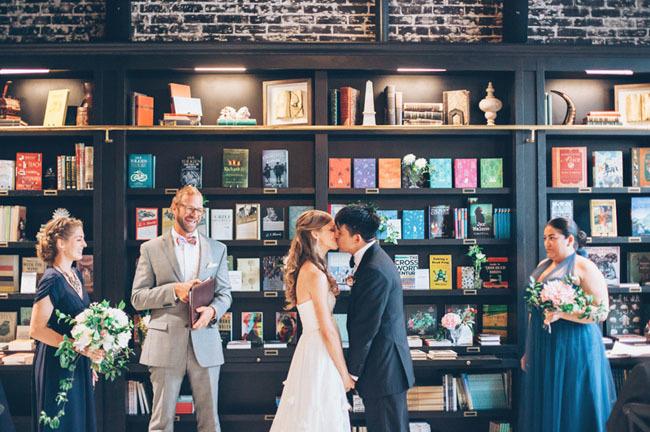 bookstore wedding