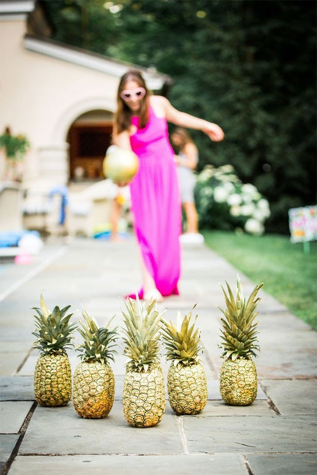 DIY Pineapple Bowling by Brit + Co