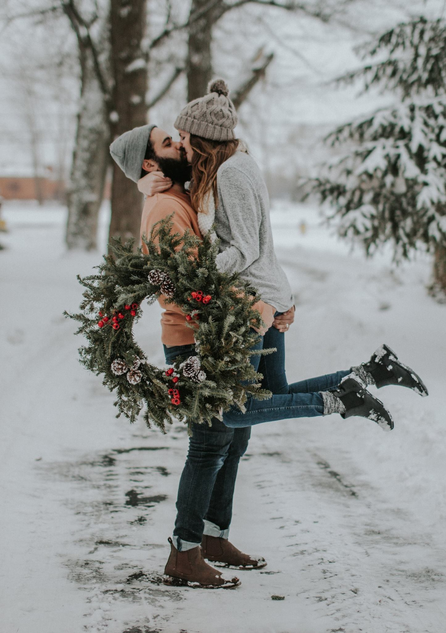 Wintry Outfits For Your Engagement Session Mywedding