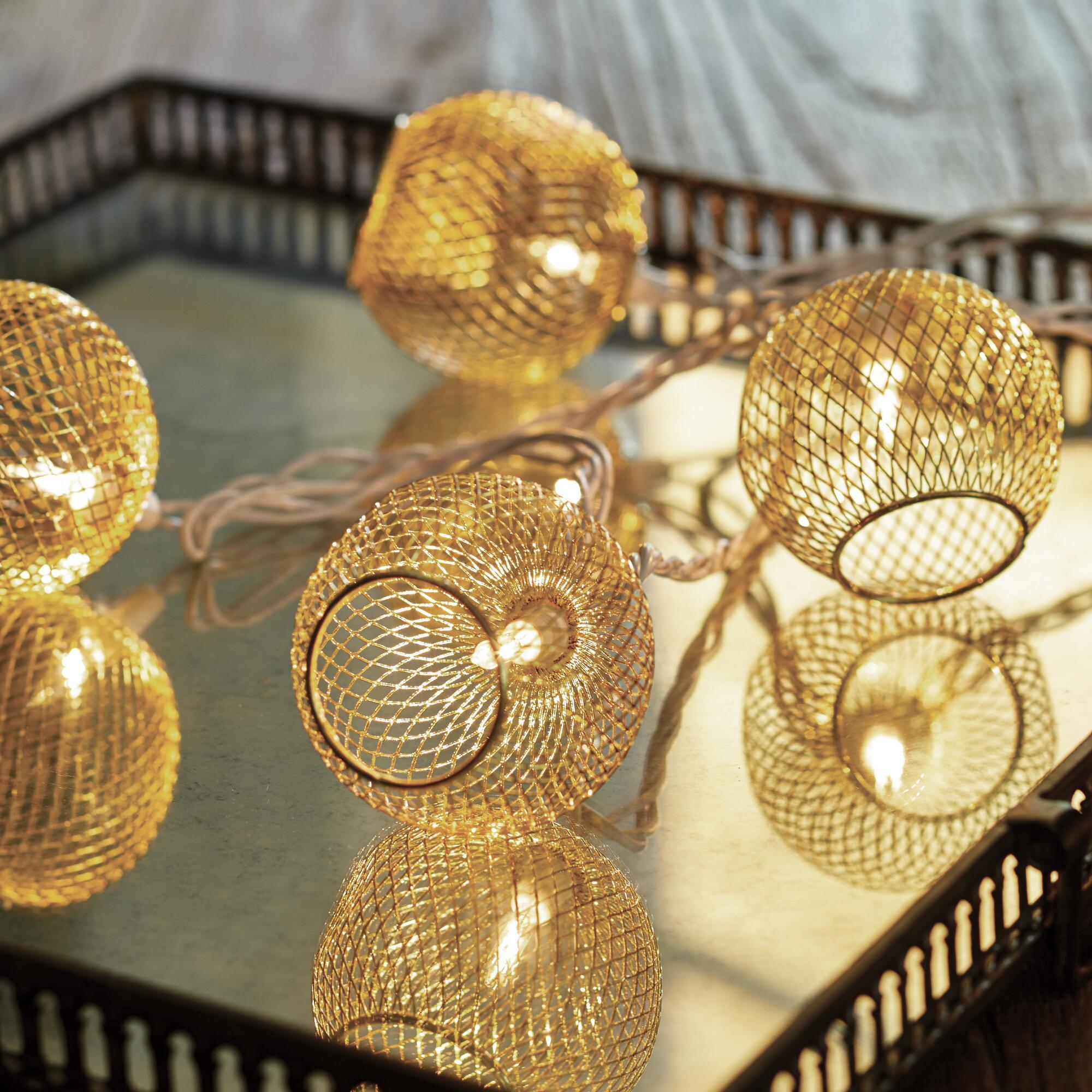 gilded string lights