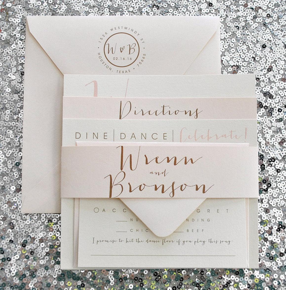 blush wedding invitation