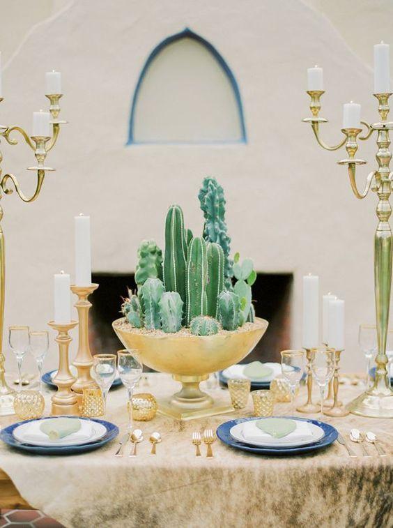 Nonfloral cactus centerpiece