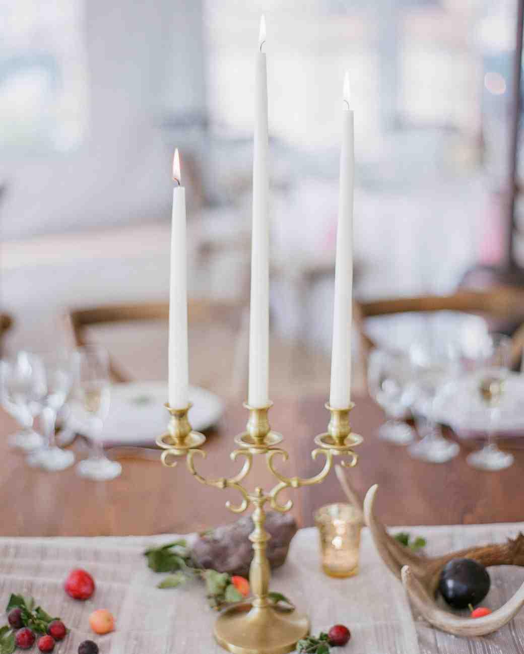 Nonfloral candle centerpiece