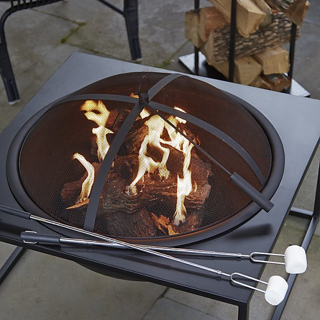 Carswell Large Firepit via Crate & Barrel