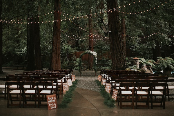 Forest wedding location