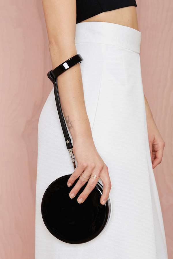 Sleek wedding clutch