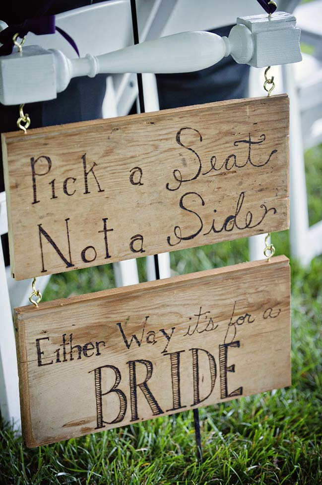 Same Sex Wedding Ceremony Sign by Clever Wedding Ideas