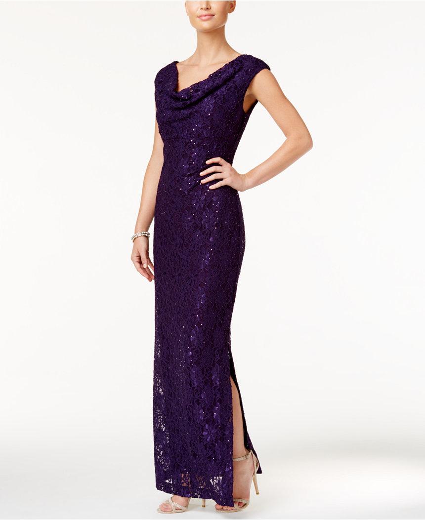 purple MOB dress