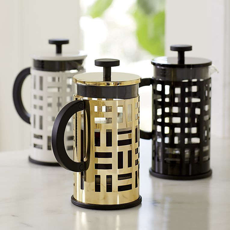 French press from Crate and Barrel