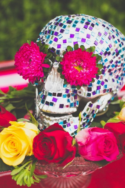 DIY Fiesta Mosaic Centerpiece