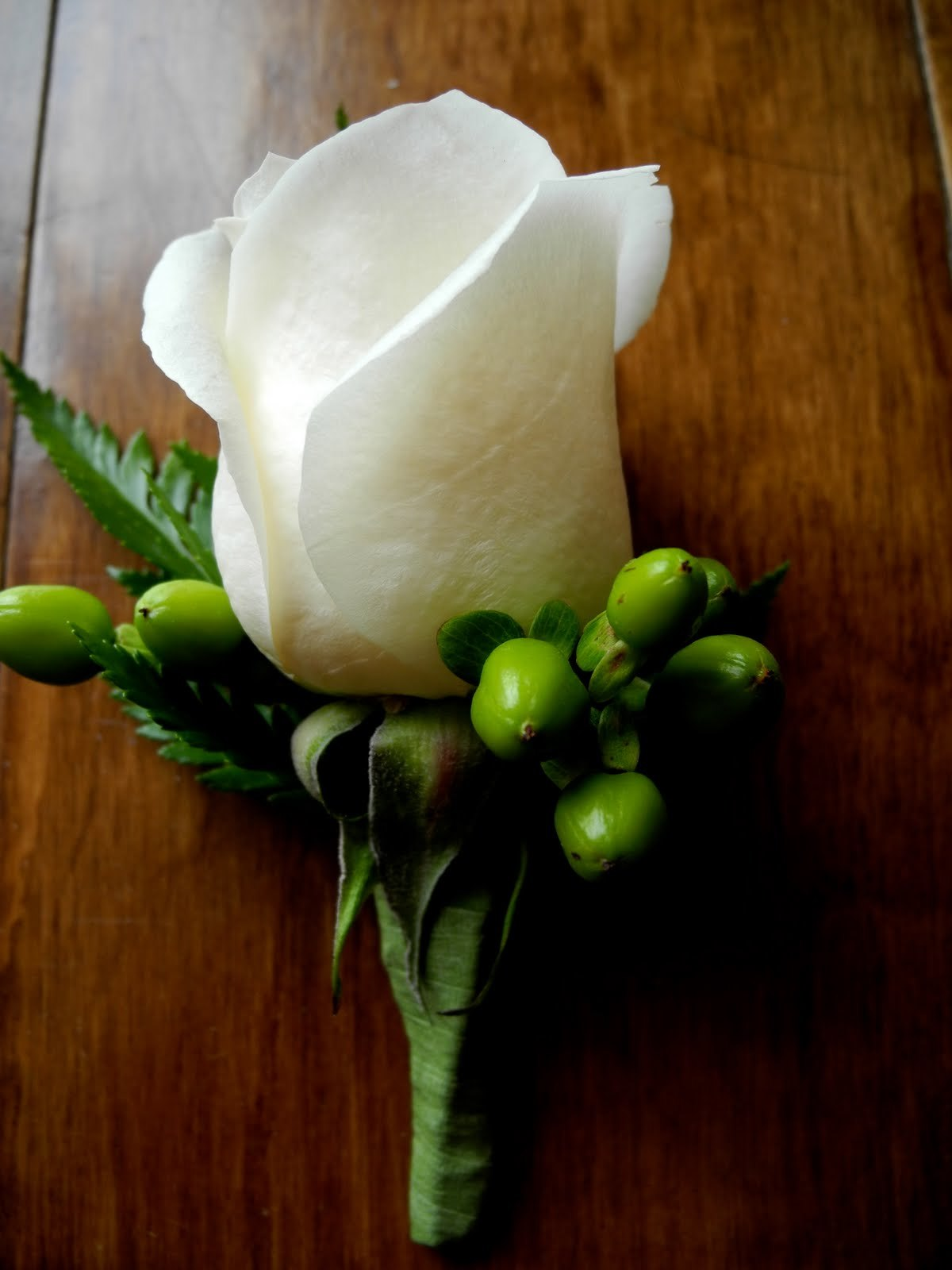 Classic White Rose Boutonniere