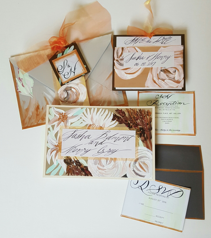 Handpainted Fall Stationery
