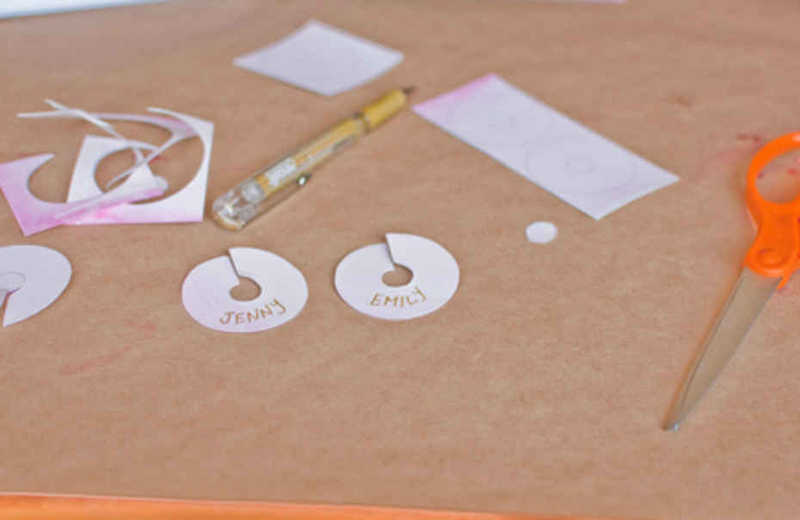 watercolor drink tags