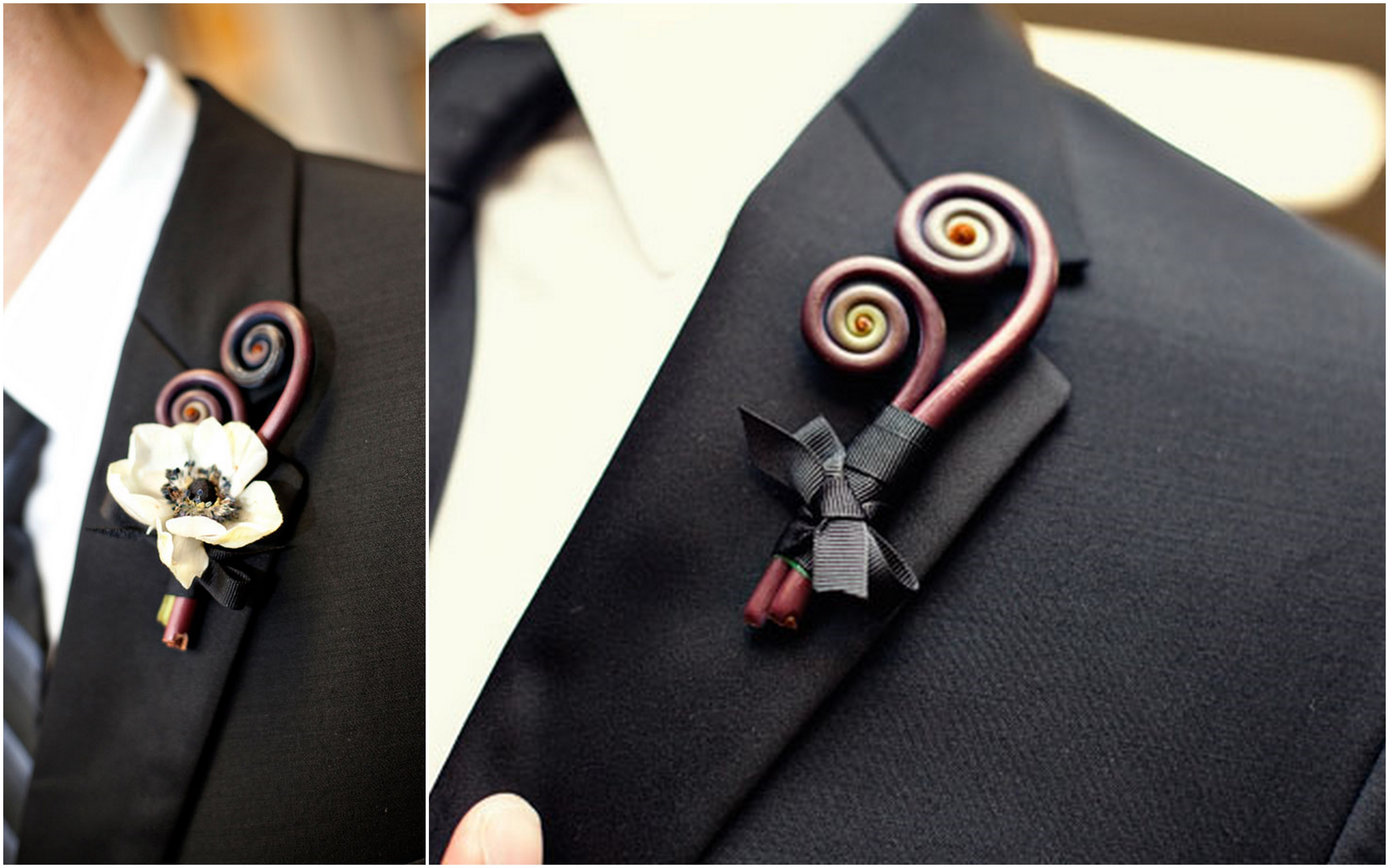Naturally Quirky Boutonnieres