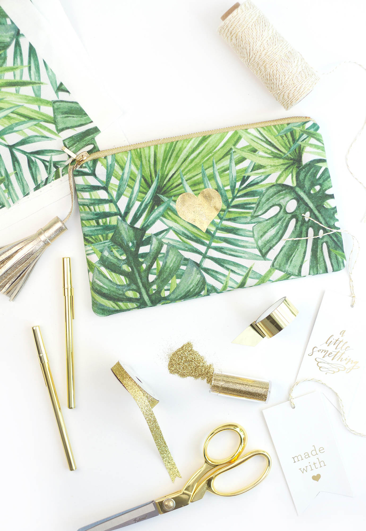 DIY gold foil fabric