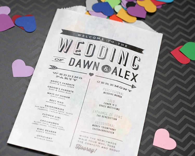 wedding program bag