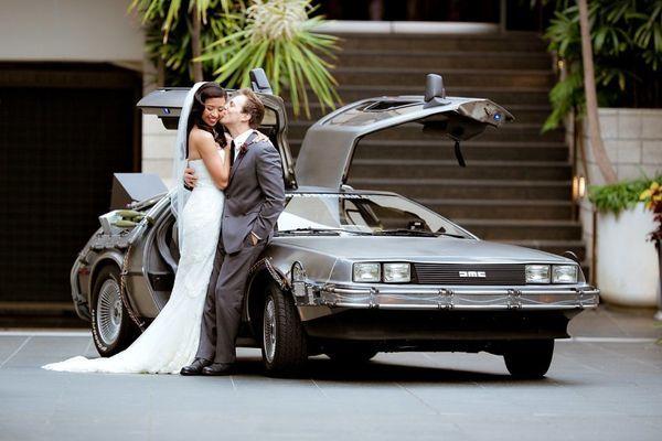 Delorean Wedding Transportation