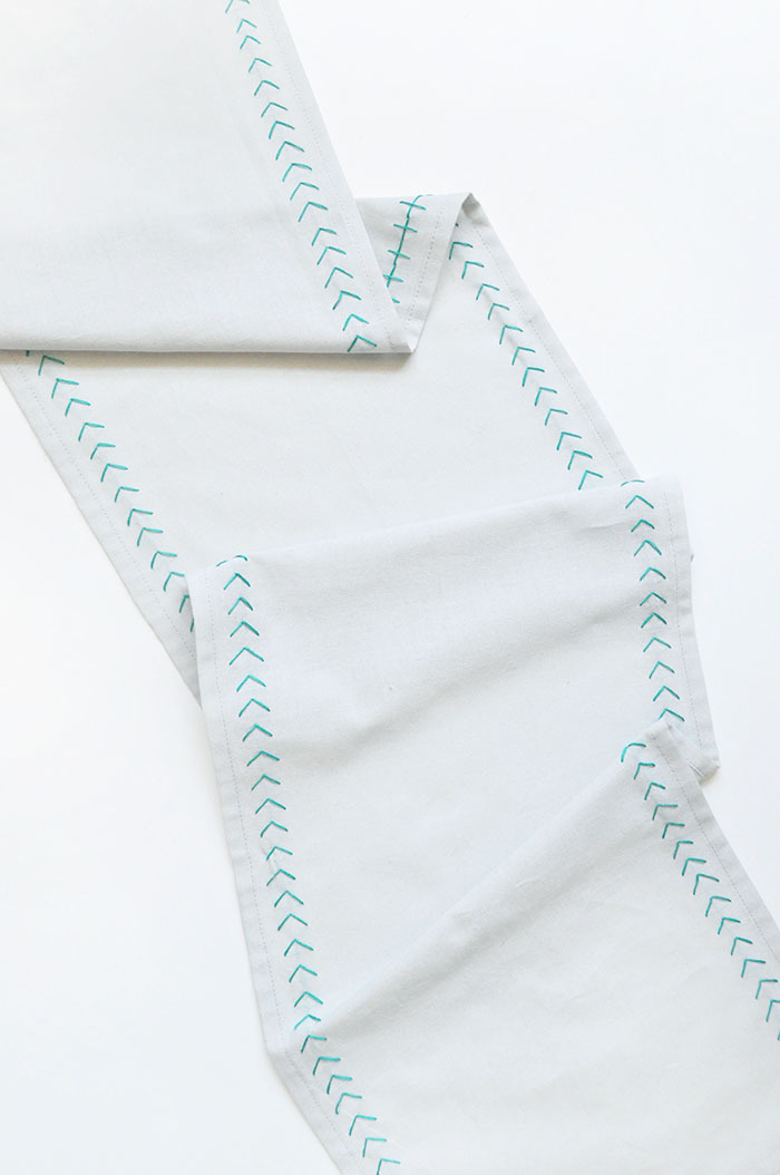 stitched table runner