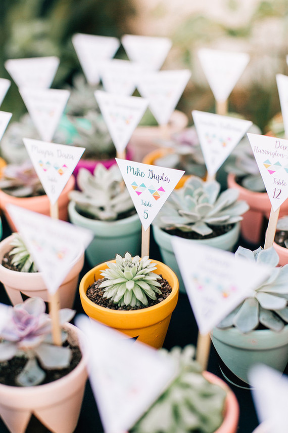 Potted Seating Cards
