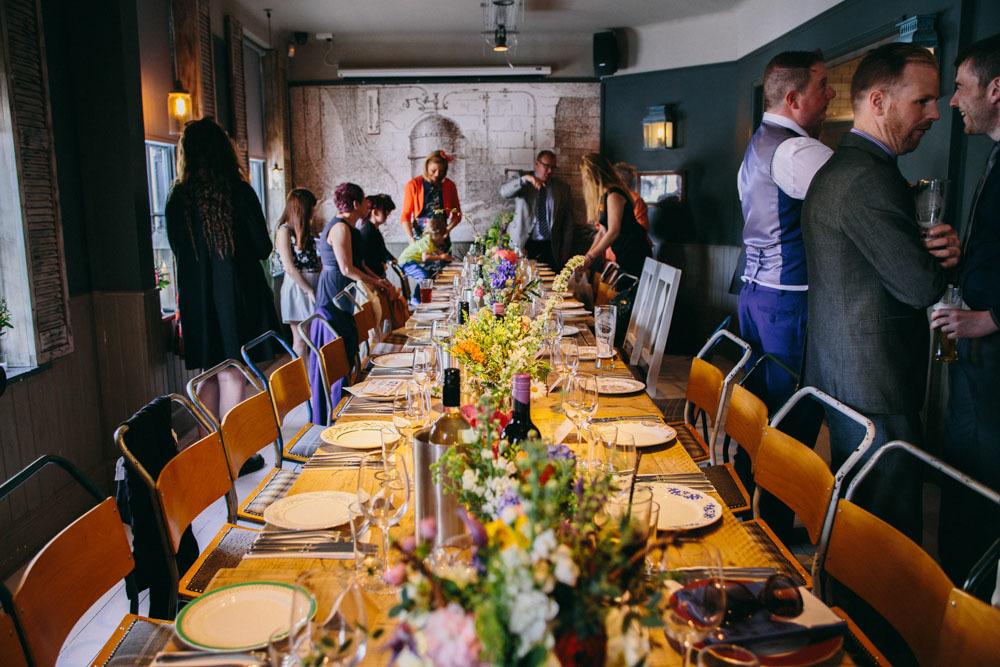 UK pub wedding