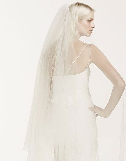 Two-tier Chapel Length Veil with Lace Applique