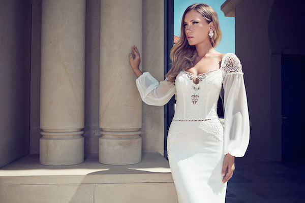 Full sleeve wedding dress
