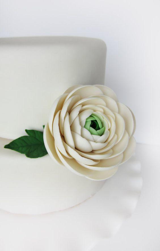 Ranunculus edible cake topper
