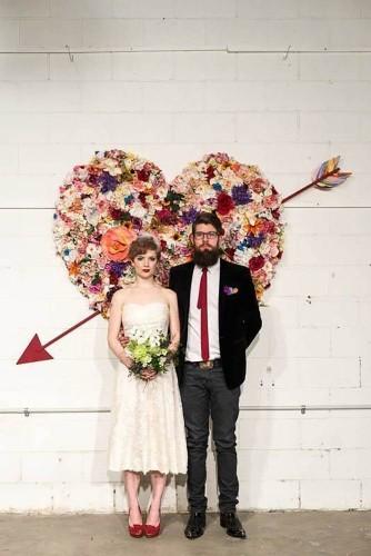 heart flower backdrop