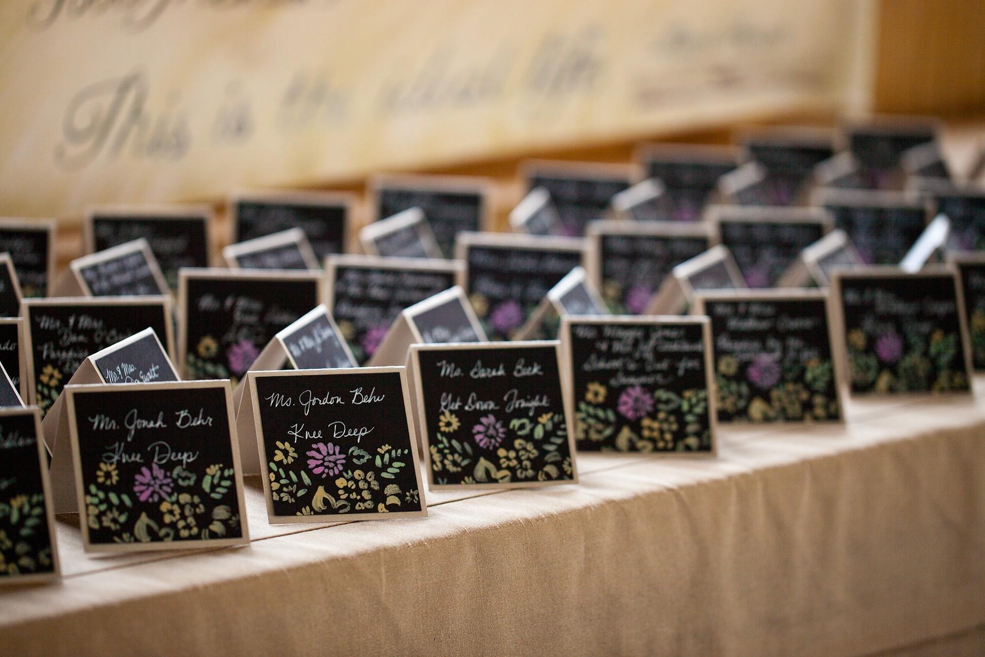 Chalkboard Cactus Escort Cards