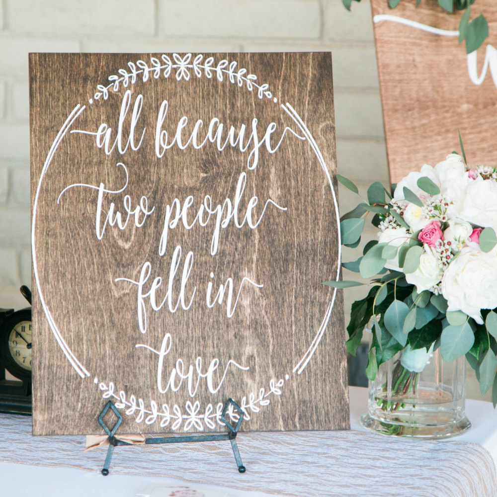 Elegant wedding sign