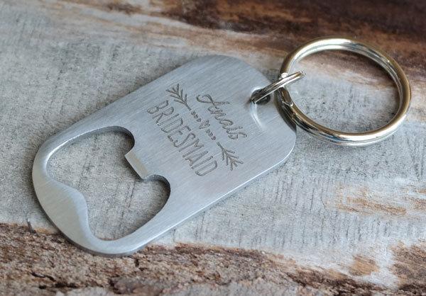 Personalized Bridesmaid Bottle Opener