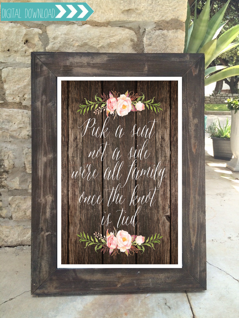 Downloadable wedding sign