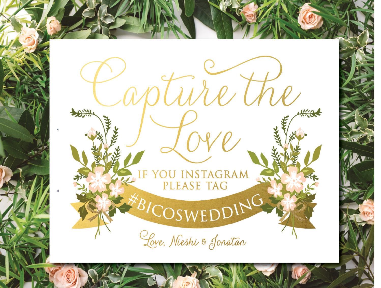 Custom Instagram wedding sign