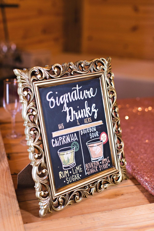 Small chalkboard wedding sign