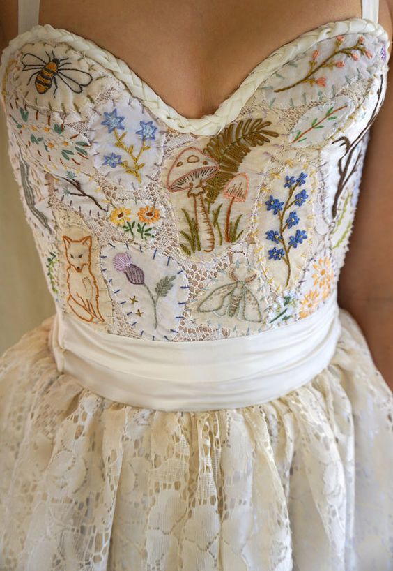 Woodland Wedding Dress by jadadreaming