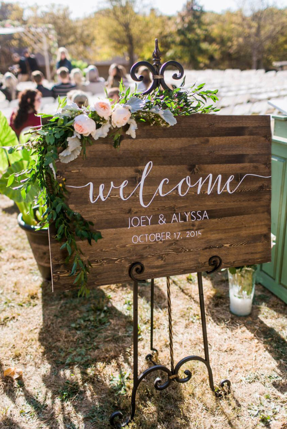 Etsy wood and calligraphy sign