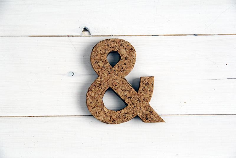 DIY cork ampersand