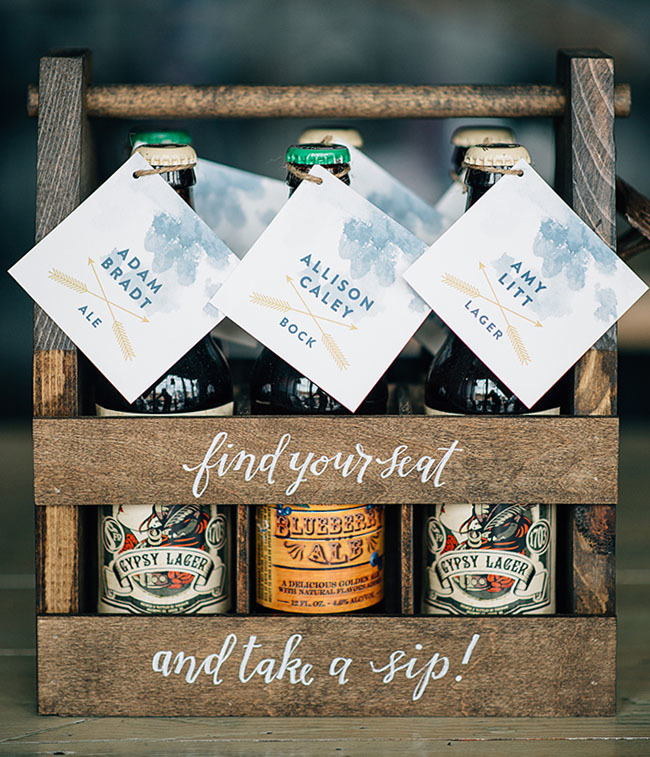 Festive Beer Place Cards