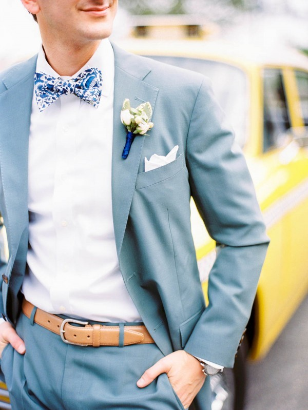 floral blue bow tie