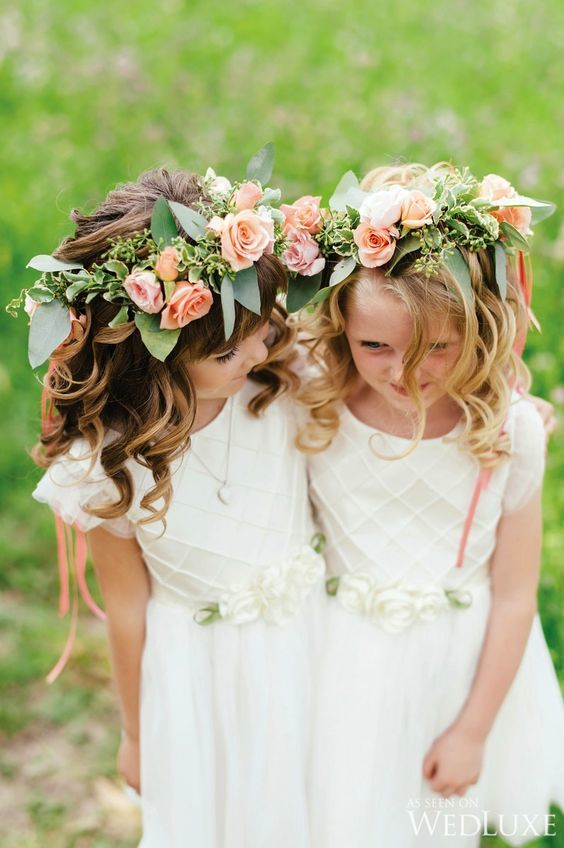 Flower girl accessory floral crown