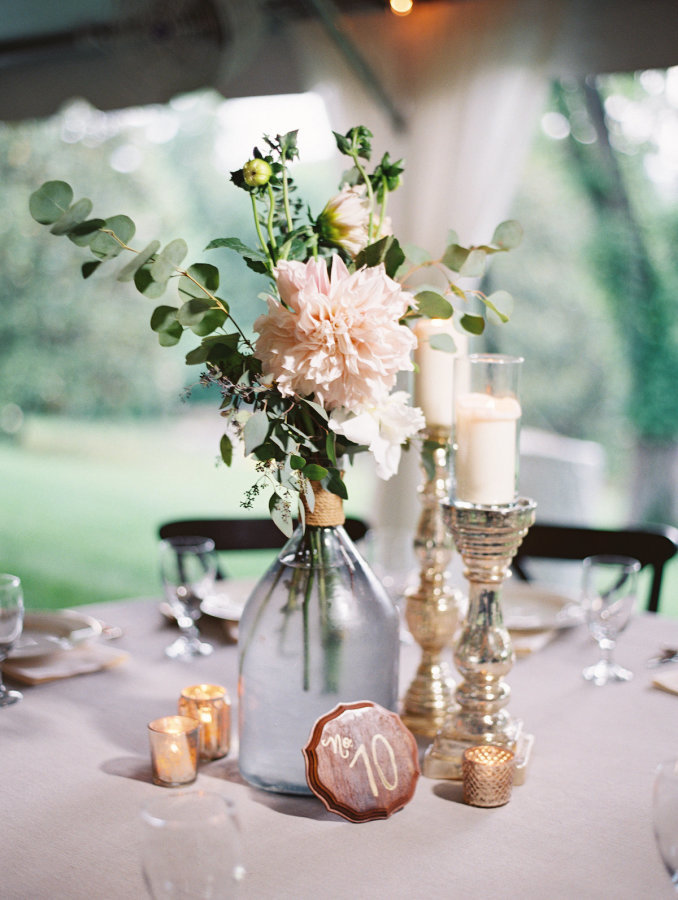 Flower Glass Centerpiece